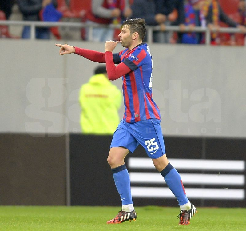Raul Rusescu a ajuns într-un top UEFA alături de nume celebre ca Radamel Falcao şi Oscar Cardozo