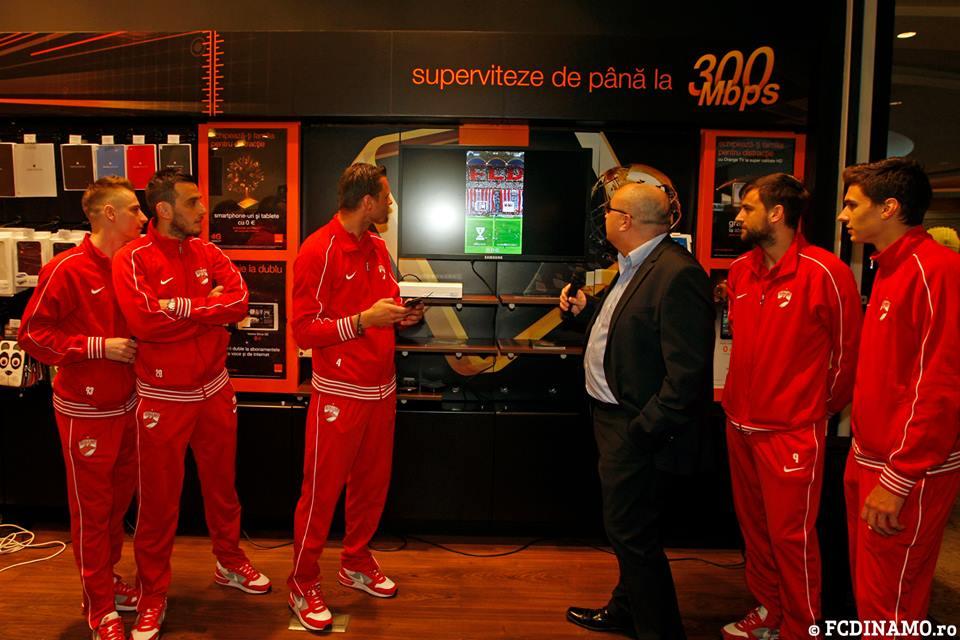 Moment amuzant la lansarea aplicaţiei mobile a lui Dinamo: