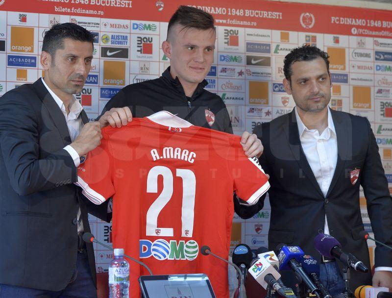 Dinamo l-a prezentat astăzi pe Andrei Marc » Fotbalistul are planuri mari cu formaţia lui Mihai Teja