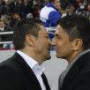 Înainte de meci, Ilie Stan și Răzvan Lucescu s-au salutat cordial și<br />s-au îmbrățișat