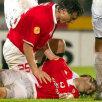 2004. Inima i-a cedat lui Miklos Feher (Benfica), în meciul cu Guimaraes