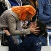 Raul a primit un sărut<br />după victoria de pe<br />Național Arena cu Molde<br />Foto: Alex Nicodim