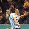 Prima persoană cu care<br />Raul a celebrat cele două<br />goluri de la Chiajna a<br />fost Roxana Foto: Raed Krishan