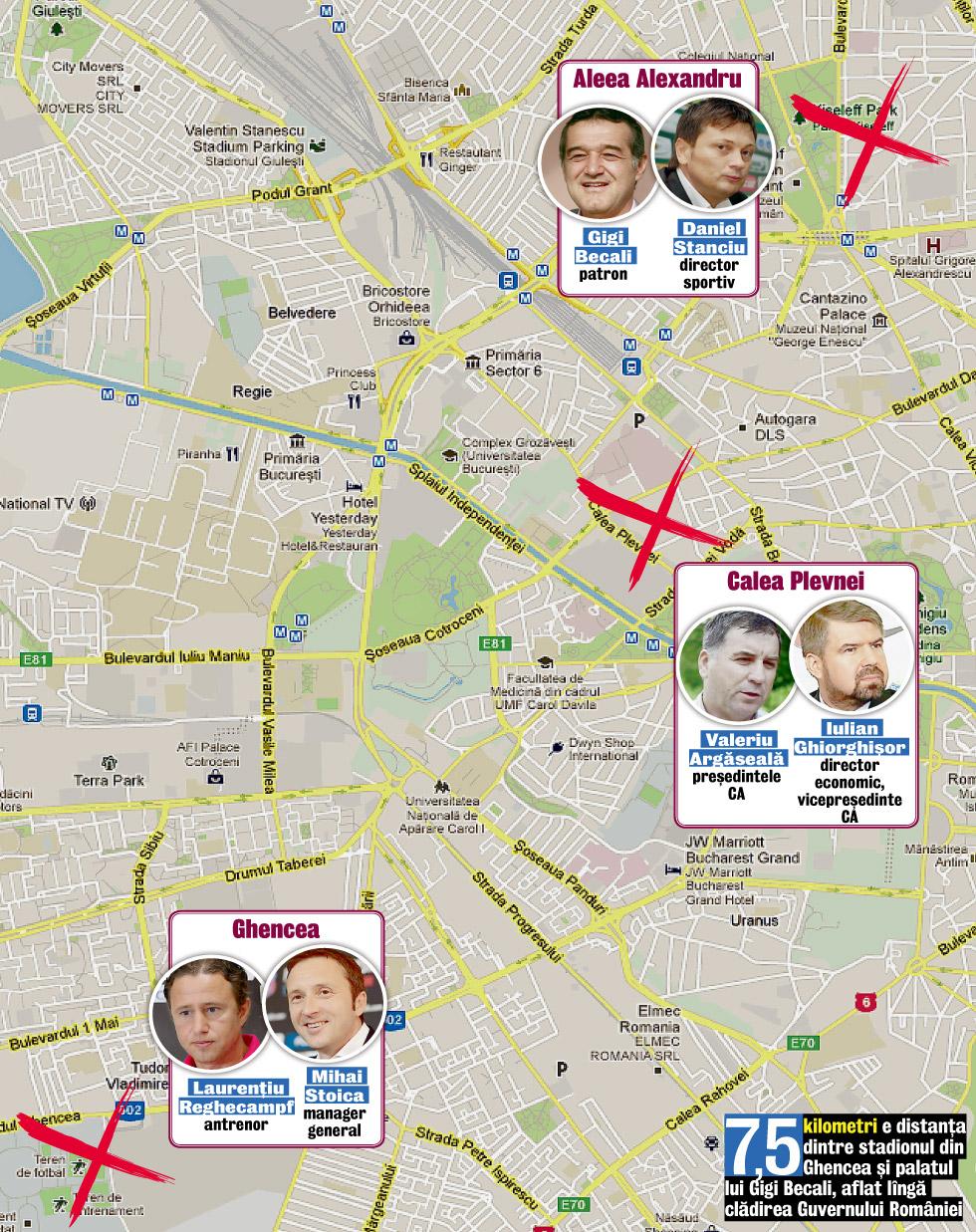 Harta Puterii La Steaua Clubul Se Conduce Din Trei Cartiere Iar