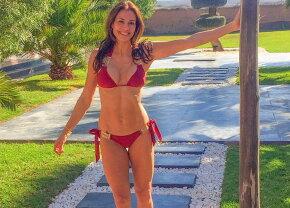 GALERIE FOTO » Ea este visul oricărui bărbat. La 46 de ani arată senzaţional!